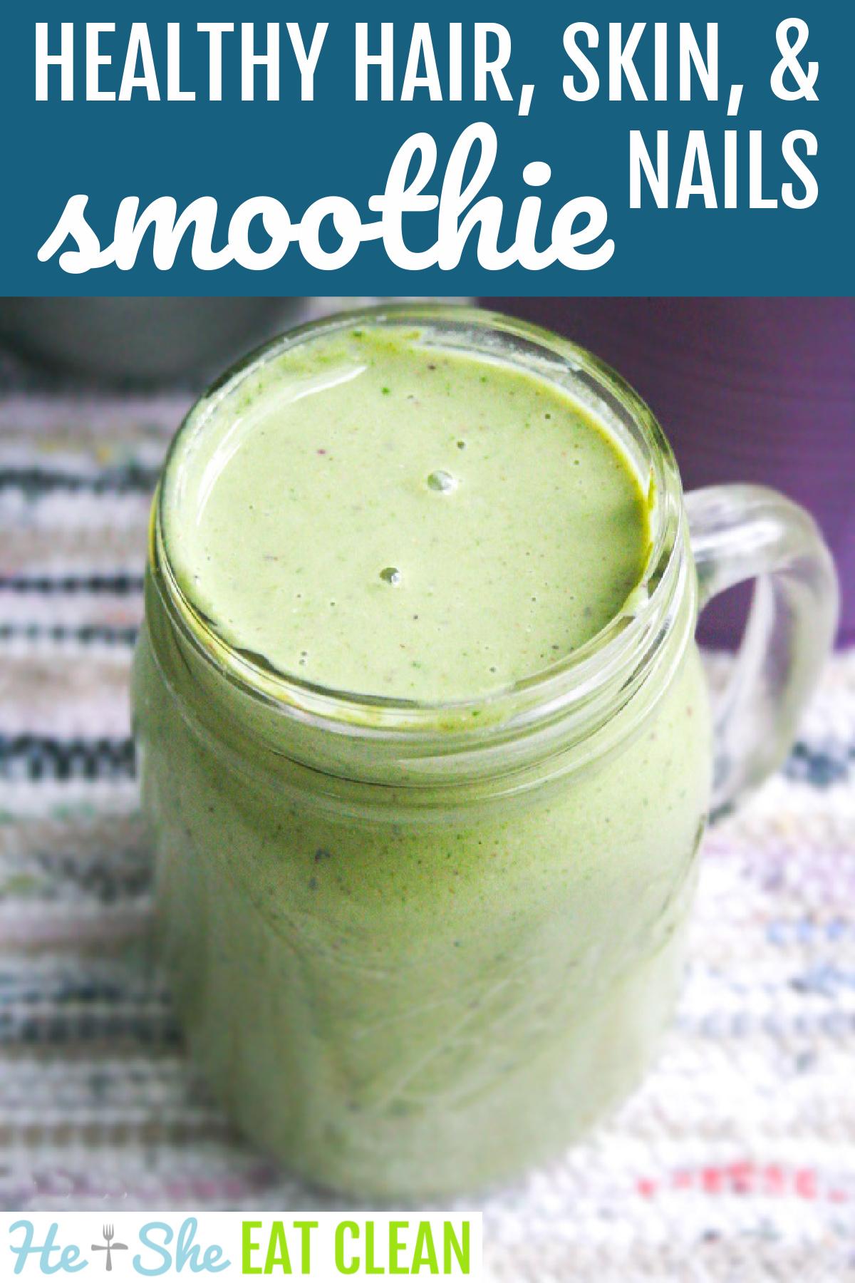 mason jar containing green smoothie