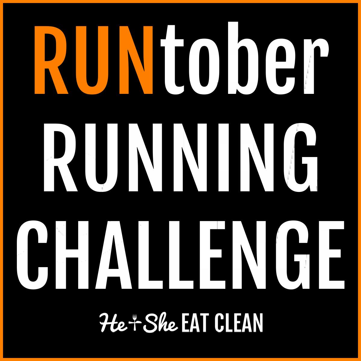 text reads RUNtober Running Challenge